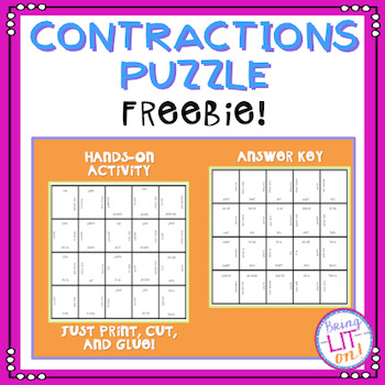 FREEBIE Contractions Puzzle
