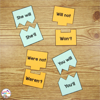 Contractions Puzzle Activity