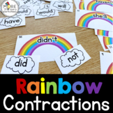 Contractions Puzzle Cards {Rainbow and Clouds}