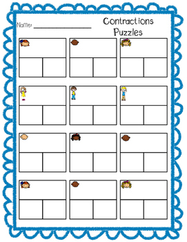 Contractions Puzzles - Not and Have