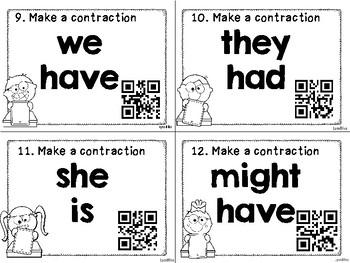 Contractions QR Code Activity