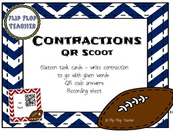 Contractions QR Code Scoot - Football themed