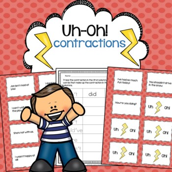 Contractions Reading Fluency Practice Uh-Oh!