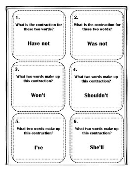 Contractions SCOOT game