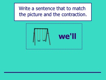 Contractions SMART Notebook Lesson