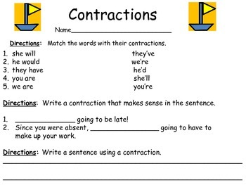 Contractions:  Sails and Sailboats