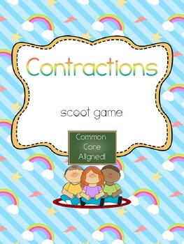Contractions Scoot- Common Core Aligned