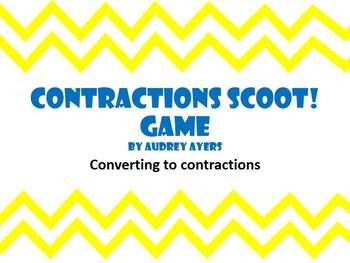 Contractions Scoot Game -Review, ELA, Grammar