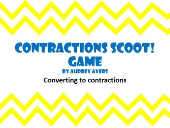Contractions Scoot Game -Review, ELA, Grammar