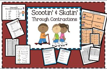 Contractions-Scootin' & Skatin' Through Contractions