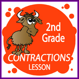 Contractions Activities + COMPLETE Lesson, COLOR Poster, Contractions Worksheet