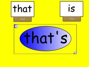 Contractions SmartBoard Lesson for Primary Grades