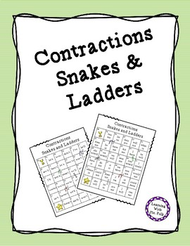 Contractions Snakes and Ladders