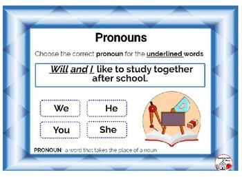 DIGITAL Pronouns ... Grammar ... Vocabulary: BOOM™ Internet Task Cards