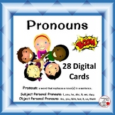 Pronouns ... Grammar ... Vocabulary: BOOM™ Internet DIGITAL Task Cards
