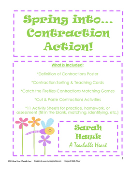 Contractions- Spring into Contraction Action!