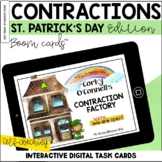 Contractions: St. Patrick's Day Edition BOOM Cards™