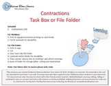 Contractions Task Box or File Folder