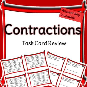Contractions Task Card Review