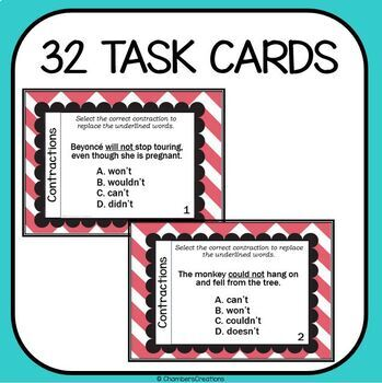 Contractions Task Cards!