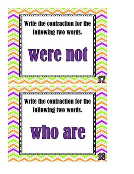 Contractions - Task Cards