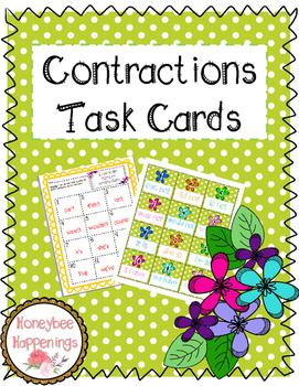 Contractions Task Cards