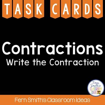 Contractions Task Cards - Write the Contraction