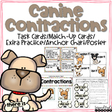 Contractions Task Cards, Anchor Chart, and Extra Practice