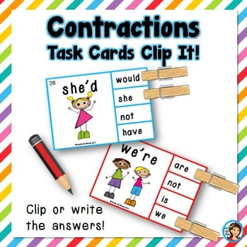 contractions by lindy du plessis teachers pay teachers