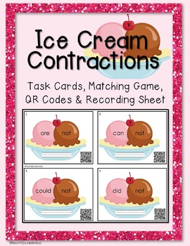 Contractions Task Cards and Matching Game