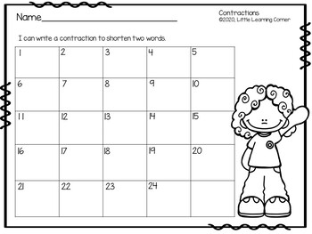 Contractions ~ Task Cards Writing Center - Apostrophe Game