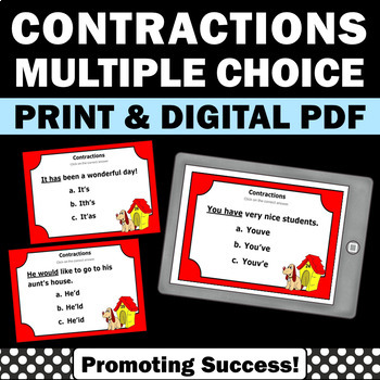 Contractions Activities, Contraction Task Cards, Contracti