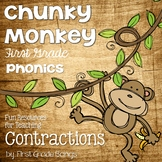 Contractions- Phonics Unit, Word Work and Literacy Center