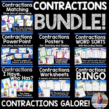 Contractions Unit BUNDLE!!