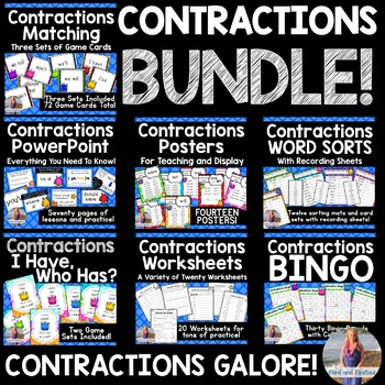 Contractions Activities Unit BUNDLE!!