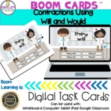 Contractions With Will and Would Boom Cards