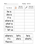 Contractions With 's