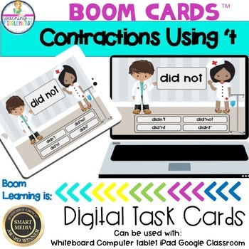 Contractions With 't Boom Cards