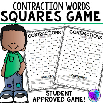 Contractions   - Word Squares Game