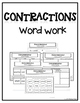 Contractions Word Work - Phonics Interactive Notebook