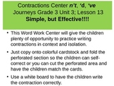 Contractions Word Work Center n't, 'd, 've THIS IS NOT a P