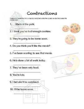 Contractions Worksheets | Teachers Pay Teachers