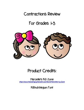 Contractions Worksheet Packet