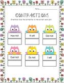 Contractions Worksheet BUNDLE
