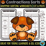 Contractions Worksheets | Cut and Paste