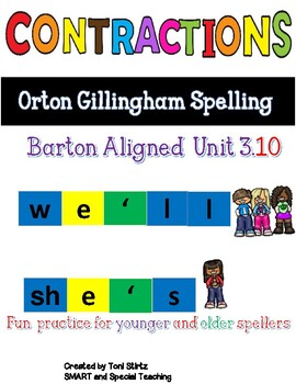 Contractions Worksheets Orton Gillingham Spelling