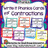 Contractions - Write It Phonics Cards for Contractions