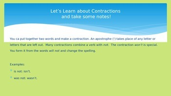 Contractions and Organizational Writing
