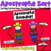Contractions and Possessives Craftivity: Apostrophe Sort