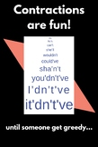 Contractions are Fun poster